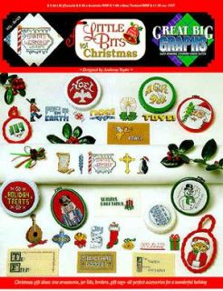 Little Bits for Christmas Cross Stitch Pattern Chart Leaflet