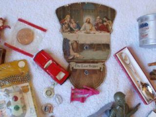 Antique Collectible Junk Drawer Lot #3 Flea Market Finds Unique Odd