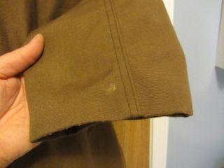 Vintage Bonders Calendar Cloth Faux Fur Lined Coat with Hood