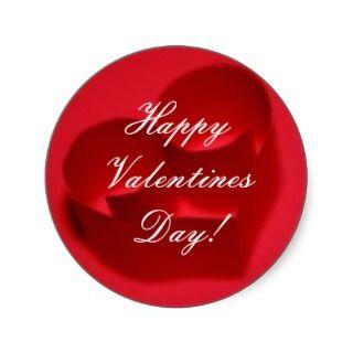 Red Heart Valentine Stickers