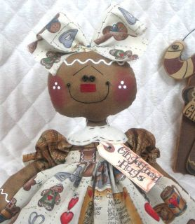 Raggedy Gingerbread Doll SUGAR ♥ ♥ from Ginger Creek Crossing