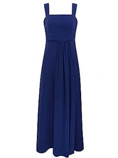 Minuet Petite Blue pleated maxi dress Dark Blue