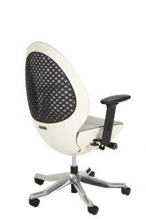 Aico LINQ Office Chair Snowy Mesh Back Cushion Seat White Frame C03