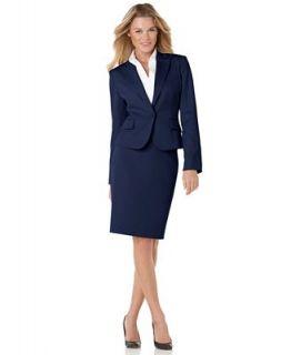 Anne Klein One Button Navy Jacket & Pencil Skirt