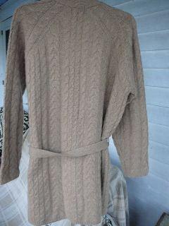 Fabulous Lands End Camel Cashmere Cable Wrap Tunic Sweater M