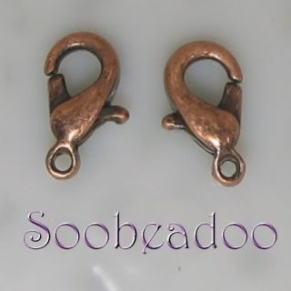 50 Lobster Trigger Clasp Antique Copper Plate 10mm