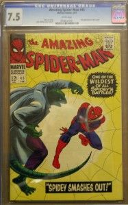 Amazing Spider Man 45 1967 CGC 7 5 Lizard Appearance White Pages No