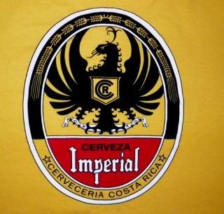 New Cerveza Imperial Costa Rica Beer T Shirt Medium Rican Bar Drinking
