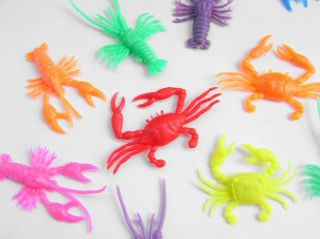 Kid Toys Mix Sea Food Animals Lobsters Crab Prawn Shrimp