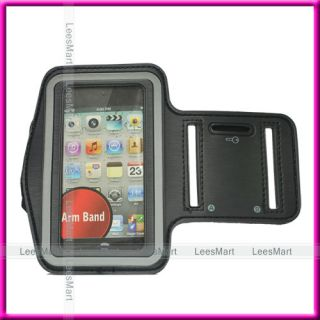 Black Sports Armband Waterproof Case for Apple iPhone 3GS 4 4S iPod