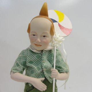 of OZ Munchkin Dolls, Franklin, Porcelain Lollipop Boy, Lullaby Girl
