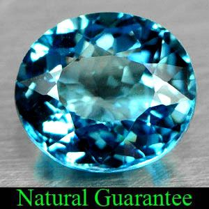 02 Ct Natural London Blue Topaz Gemstone Oval Shape