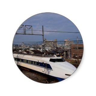 The Shinkansen or Bullet Train, Kyoto, Japan Stickers