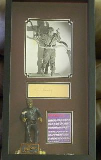 Lon Chaney Jr Signed Wolfman Display w PSA DNA