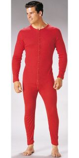 Army Style RED UNION SUIT Thermal Long Johns Underwear