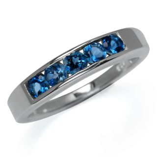 Stone Natural London Blue Topaz 925 Sterling Silver Ring Size Sz 6