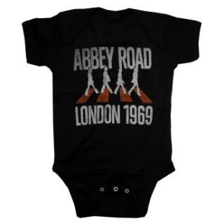 Road London 1969 Vintage Style Life Clothing Baby Snapsuit