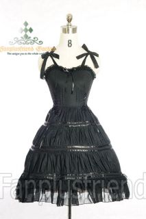 Dolly Gothic Lolita Front Open Leather Dress