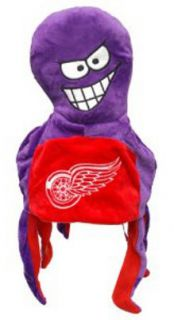 Detroit Red Wings NHL Hockey Short Dangle Thematic Winter Hat