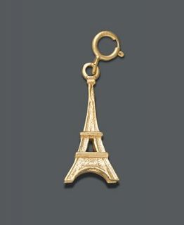 14k Gold over Sterling Silver Charm, Eiffel Tower Charm