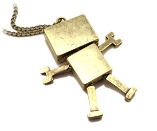 Womens Cute Robot Pendant Long Chain Necklace Retro Womens Necklaces