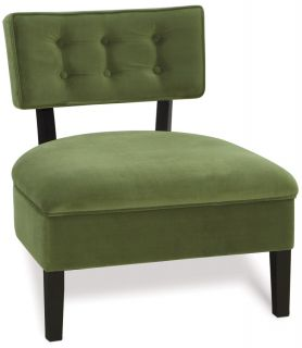 Avenue Six Spring Green Curve Button Living Room Chair