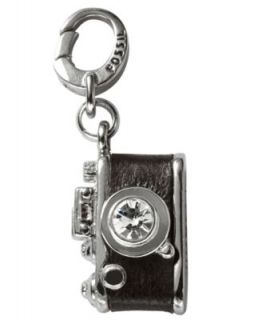 Fossil Charm, Silver Tone Leather Camera Charm