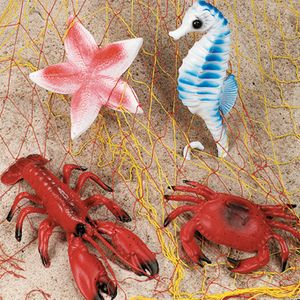 Luau Sea Life Decorations Crab Lobster Star Fish SE