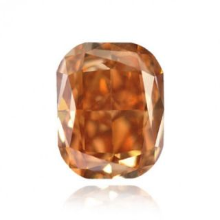 Carat Fancy Deep Orange Color Radiant Natural Loose Diamonds
