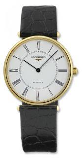 Longines La Grande Classique Automatic 18kt Gold Mens Watch White Dial