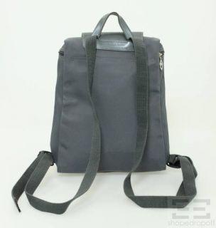 Longchamp Grey Nylon Leather Backpack Bag