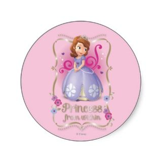 Sofia: Princess Within Round Stickers
