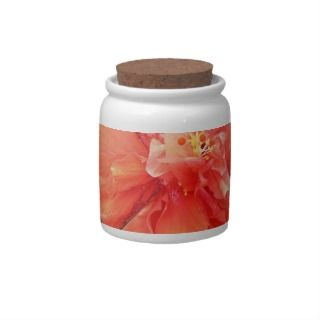 Beautiful Orange Hibiscus Flower Candy Dish