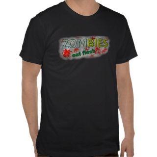 Zombies Eat Flesh Walking T Shirt Funny