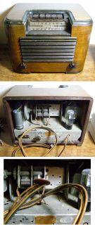 Antique Crosley Tube Radio Model 589 Shortwave Art Deco Circa 1940 EX