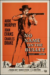 No Name on The Bullet 1959 Original U s One Sheet Movie Poster