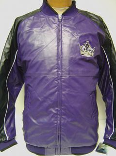 New Los Angeles Kings Faux Leather Zip Up NHL Jacket