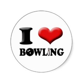 Heart Bowling Sticker