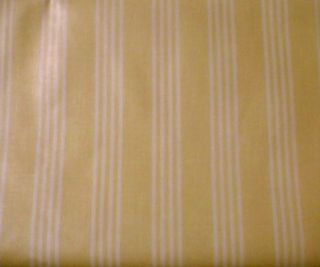 Longaberger Yellow Stripe Fabric Half Yard See My Store
