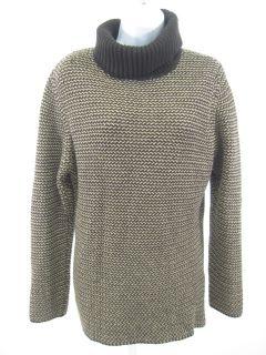 Louis Feraud Brown Tweed Wool Knit Sweater Shirt Sz 12