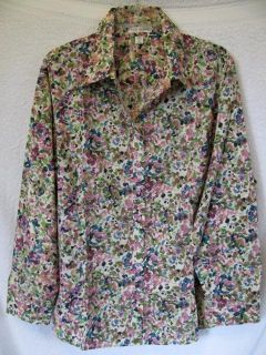 Coldwater Creek Colordrops Long Sleeved Button Down Shirt