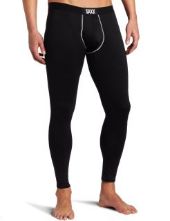 Saxx Mens Underwear Pro Elite Long John Fly Bottom Black Small Medium