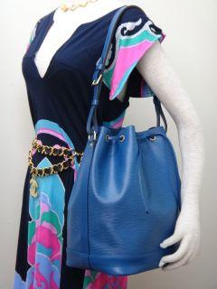 Louis Vuitton Blue Epi Noe Large Drawstring Bucket Bag M44005