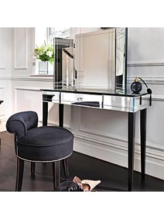 Black Orchid Art Deco Dressing Table Mirror
