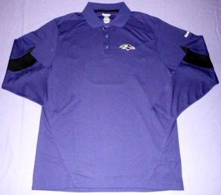 Horizon Sideline Polo Shirt Extra Small Long Sleeve Reebok NFL