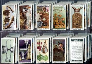 Tobacco Card Set, WA & AC Churchman, TREASURE TROVE, Archaeology, 1937