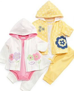 First Impressions Baby Set, Baby Girls Hoodie, Printed Bodysuit, and