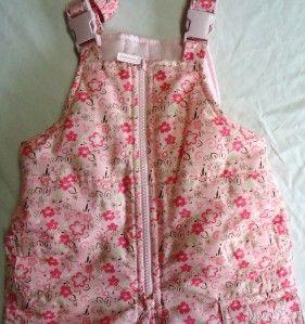 Toddler Girls London Fog Pink Flowered Snowsuit Size 2T