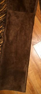 Vintage Ralph Lauren Chocolate Brown Suede Fringed Spanish Western