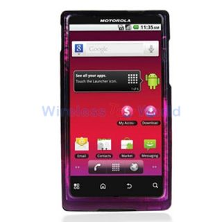 Purple Love Hard Design Skin Case Cover for Motorola Triumph WX435